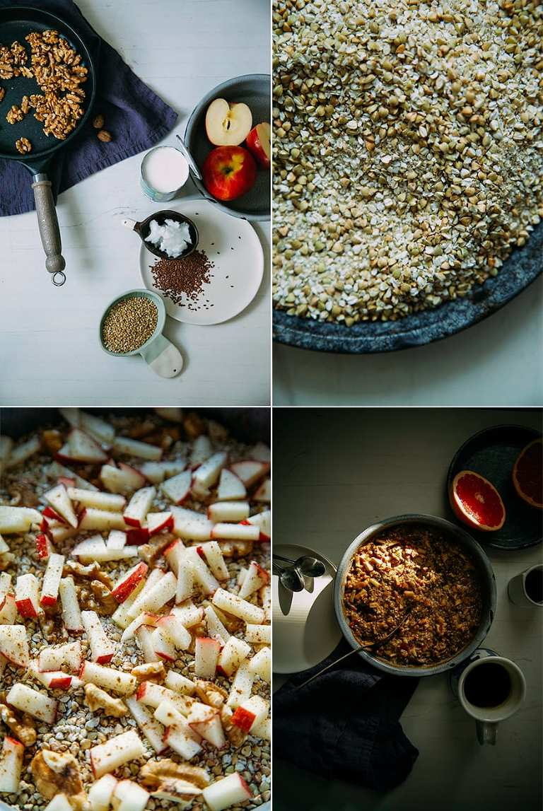 hearty apple-spice buckwheat bake (vegan + gluten-free) // www.thefirstmess.com