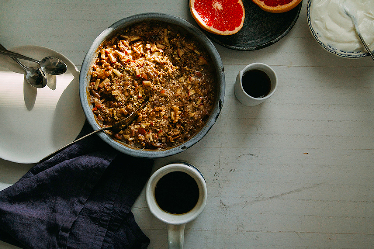 hearty apple-spice buckwheat bake #vegan #glutenfree // www.thefirstmess.com