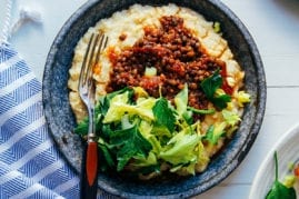 #vegan bbq lentils with millet
