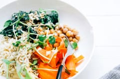 Sara's amazing tahini dressing + a healthy bowl recipe