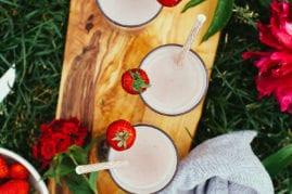 vegan strawberry milk