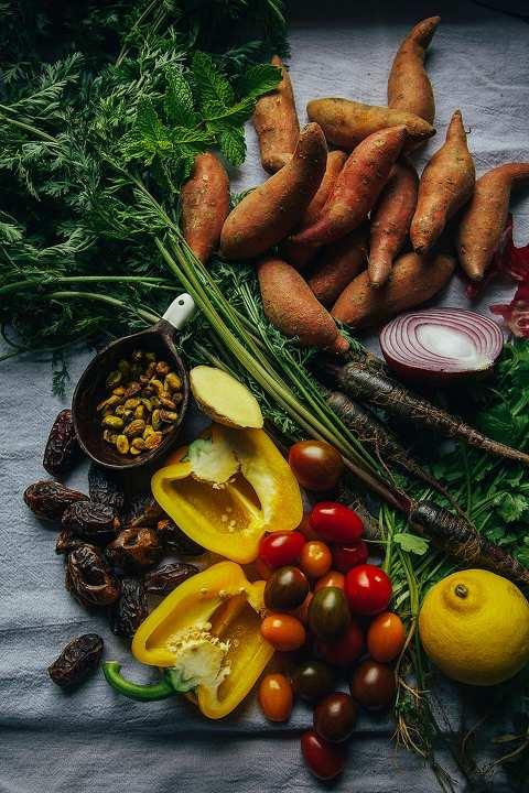 moroccan-ish sweet potato sunshine salad // thefirstmess.com