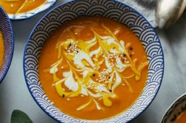 ginger carrot bisque from Gena Hamshaw/Food 52's new Vegan Cookbook // thefirstmess.com