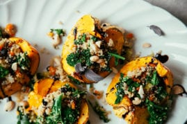 stuffed squash with broccoli rabe and quinoa // thefirstmess.com