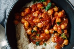 Chickpea stew w/ tomato, coconut + 7 spices via thefirstmess.com #vegan