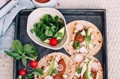 roasted king oyster mushroom tacos w/ cacao chipotle sauce - The First Mess