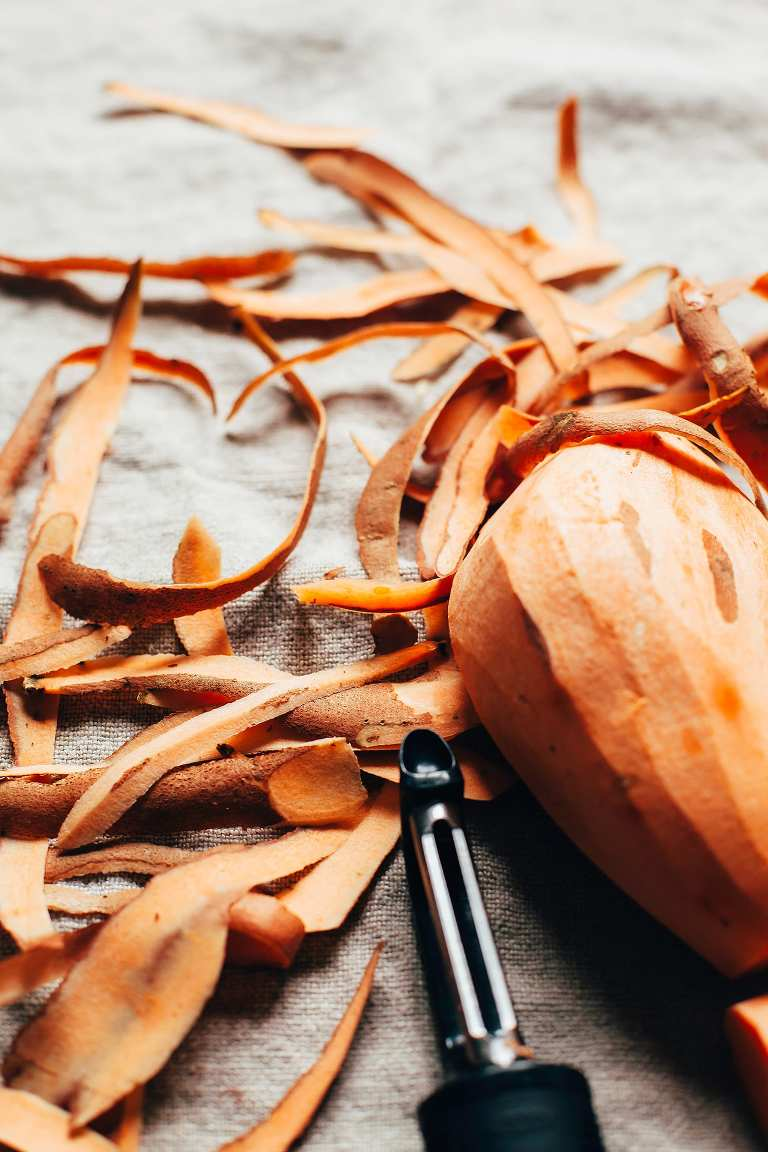 sweet potato noodles w/ creamy chipotle miso sauce - The First Mess