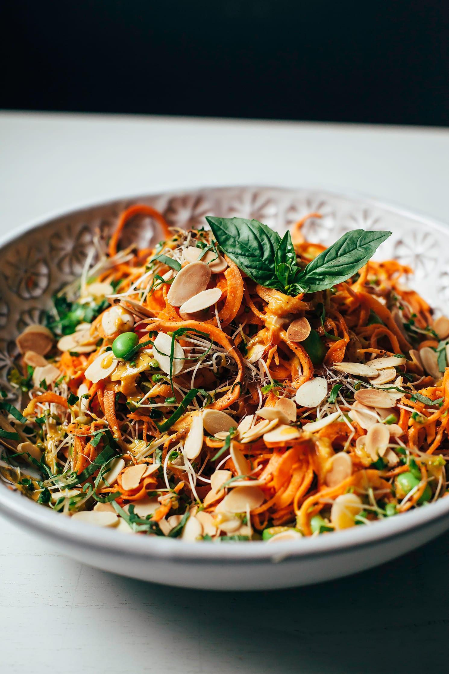 Sweet Potato Noodle Salad W Creamy Chipotle Miso Sauce