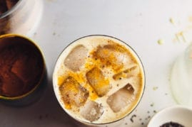 golden milk iced coffee - The First Mess