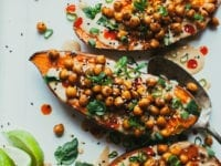 """Stuffed + Sauced Sweet Potatoes from """"Minimalist Baker's Everyday Cooking"""" - The First Mess"""