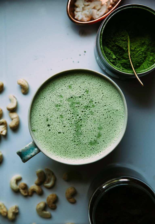 vegan coconut cashew matcha latte - The First Mess