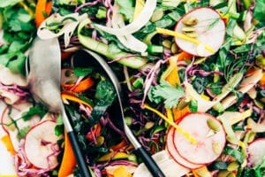 citrus miso slaw with 10 vegetables - The First Mess