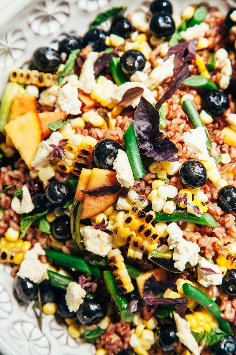 """summer picnic salad with blueberries & vegan """"feta"""" - The First Mess"""