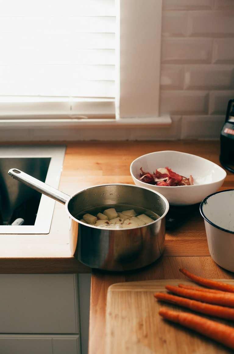 prepping golden split pea patties (vegan, GF) - The First Mess