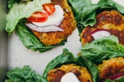 golden split pea patties (vegan, GF) - The First Mess