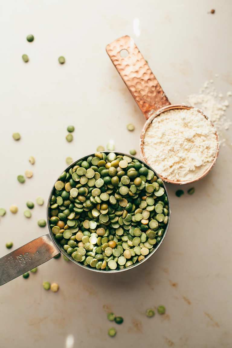 for golden split pea patties (vegan, GF) - The First Mess