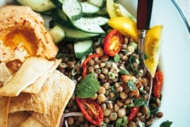 the best marinated lentils from
