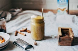 sweet potato spice latte shake - The First Mess