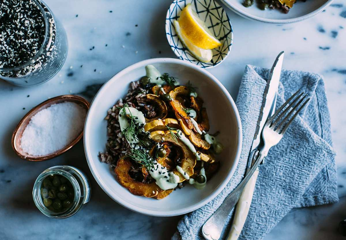 """CRISPY SQUASH BOWL W/ DILL CREAM FROM """"NUTRITION STRIPPED"""" » The ..."""