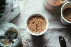 coconut butter hot chocolate (vegan) - The First Mess