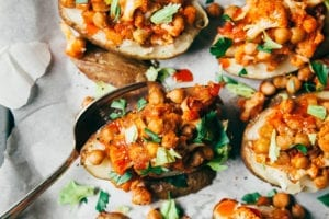 twice baked potatoes with buffalo chickpeas & cauliflower - The First Mess
