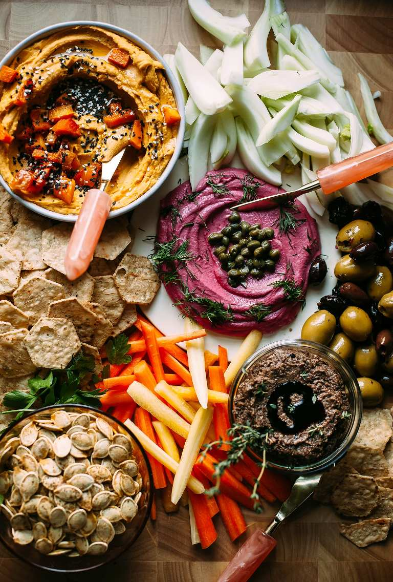 The ultimate vegan snack board - The First Mess