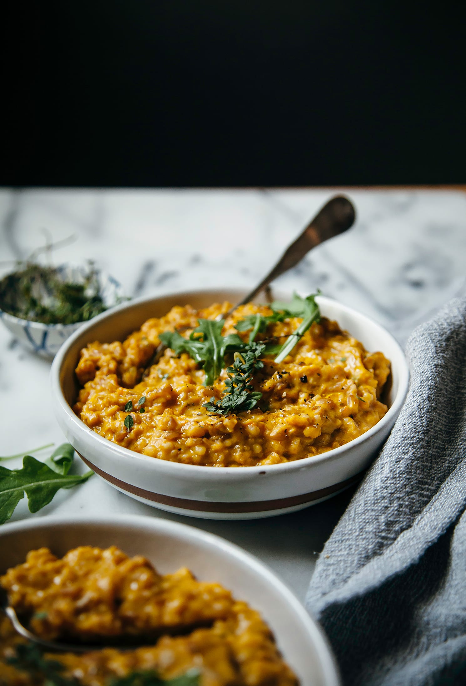Creamy vegan farrotto with butternut squash the first mess creamy vegan farrotto with butternut squash the first mess plant based recipes photography by laura wright forumfinder Images