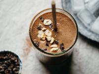 "vegan double chocolate hazelnut espresso shake from ""Blissful Basil"""