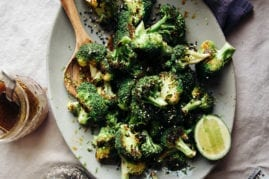Charred Broccoli with Ginger Sesame Sauce from
