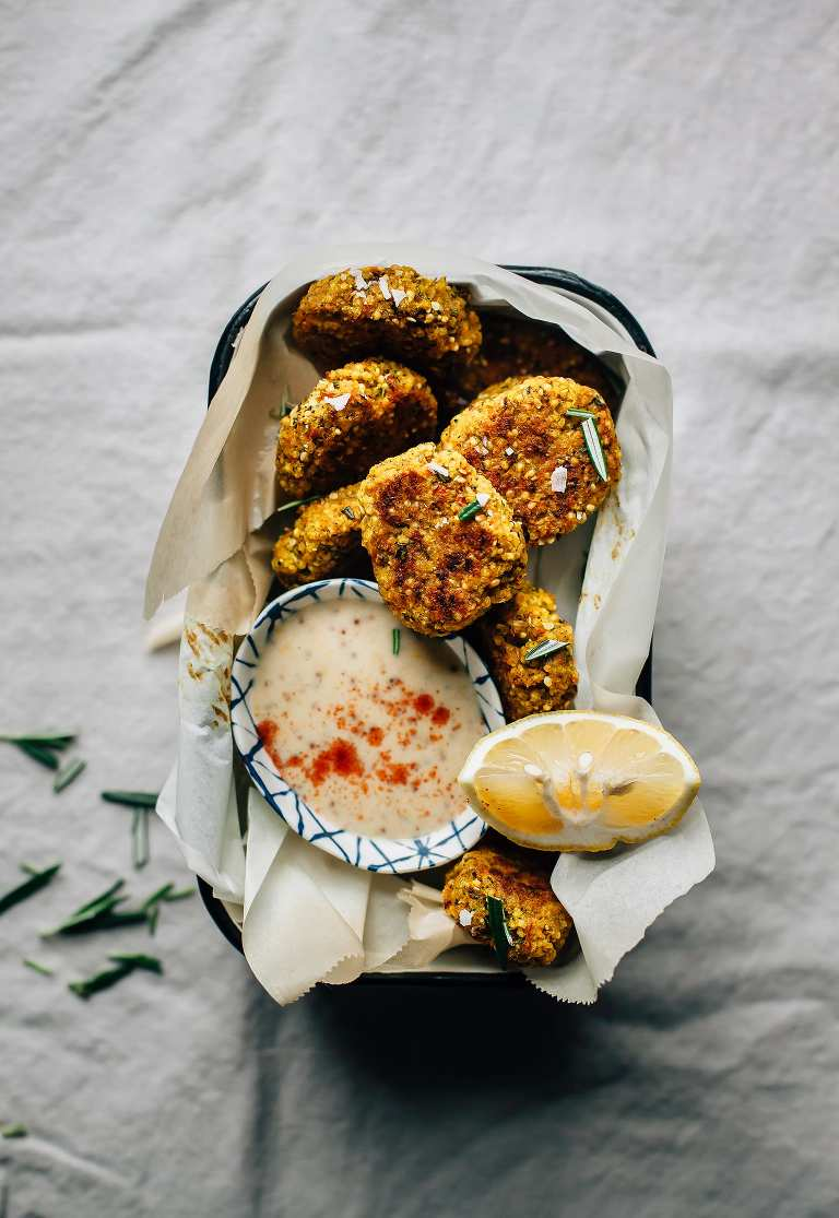 Super Savoury Veggie, Hemp & Millet Nuggets - The First Mess