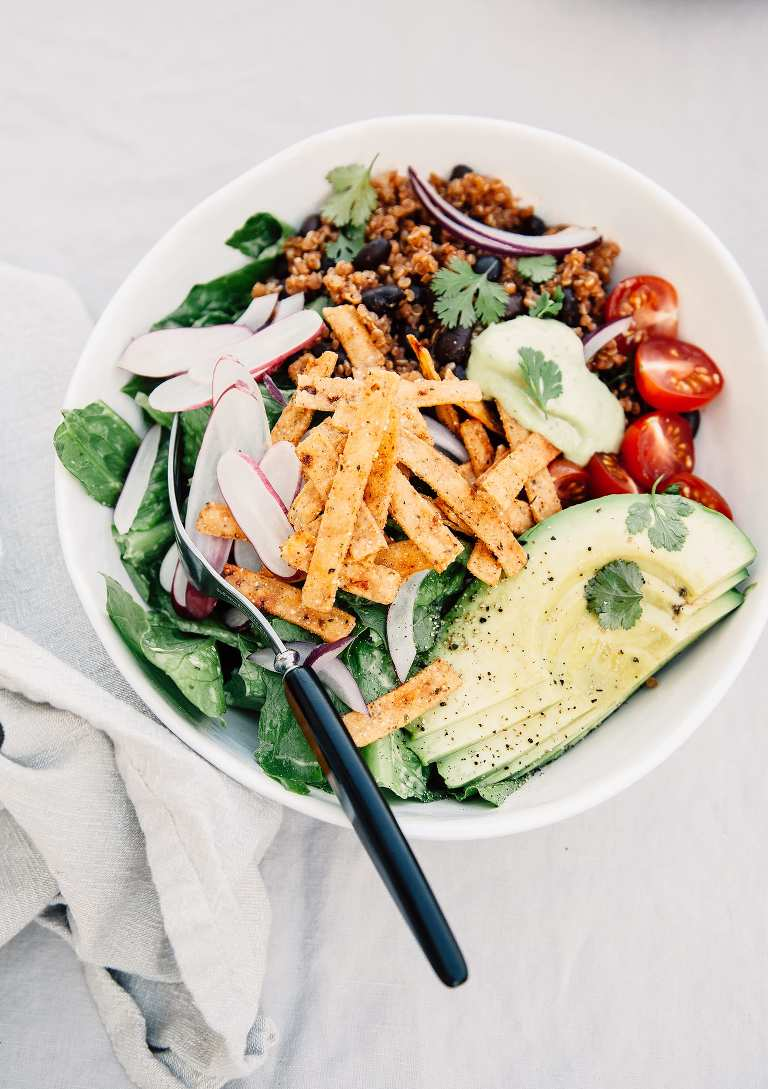 "Fresh Taco Salads from ""Love Real Food"" (vegan recipe)"