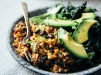 Black Beans and Rice with Roasted Poblanos and Garlic - The First Mess