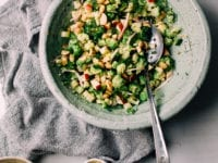 Broccoli & Cauliflower Salad with Horseradish Caraway Dressing & Apples - The First Mess