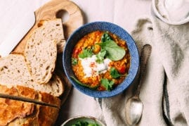 GOLDEN LENTIL SOUP WITH SPINACH, LIME & COCONUT - The First mess