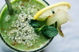 Winter Glow Green Smoothie with Hemp & Ginger - The First Mess
