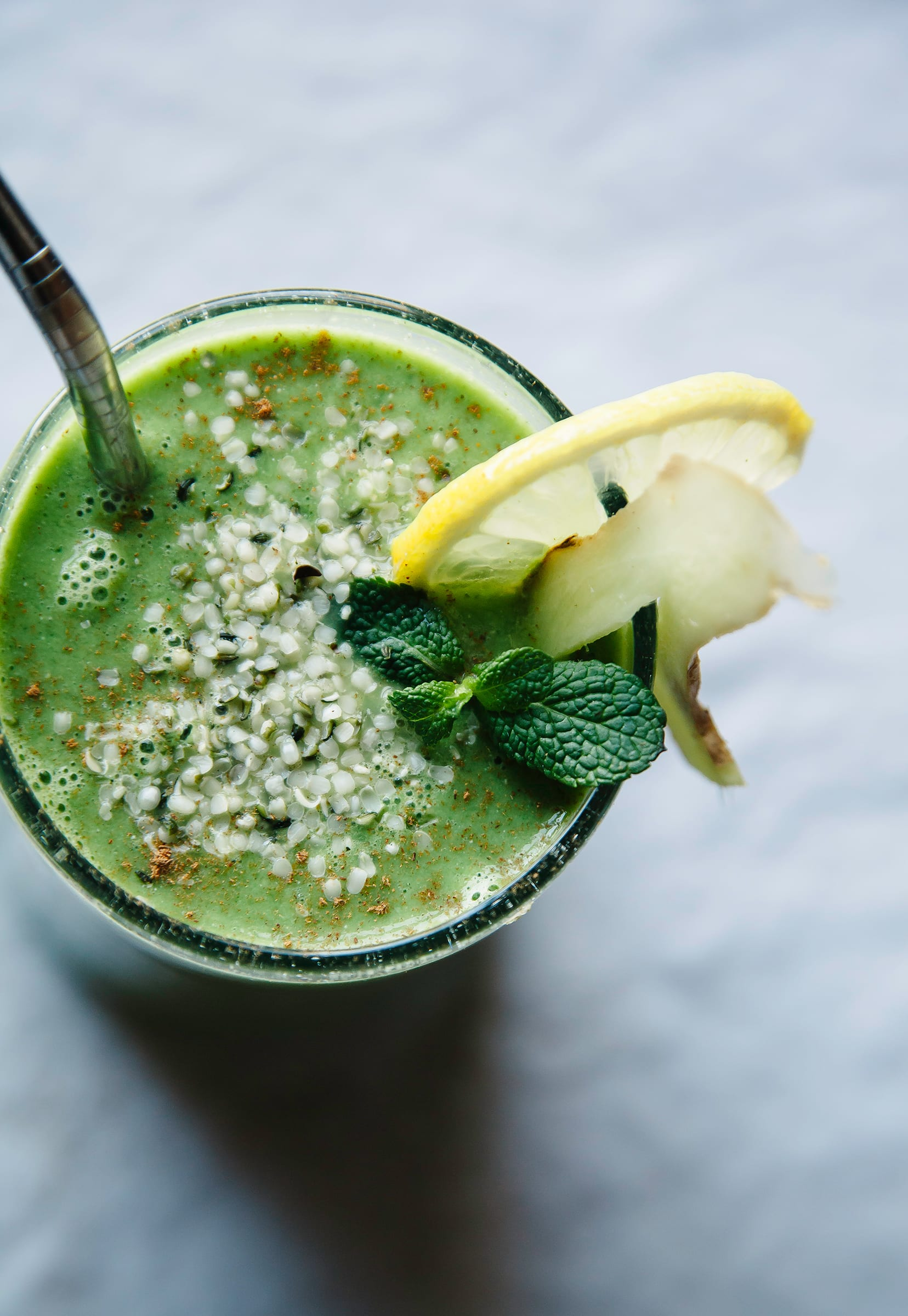 Winter Glow Green Smoothie With Hemp Ginger The First Mess