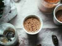 COCONUT BUTTER HOT CHOCOLATE - The First Mess