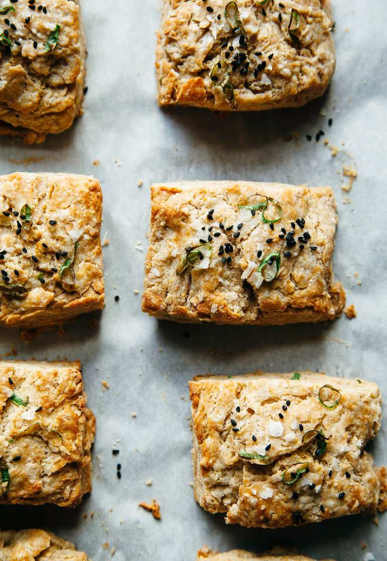 VERY GOOD VEGAN BISCUITS WITH MISO & GREEN ONIONS - The First Mess
