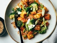 KIMCHI FRIED RICE WITH SMOKY TEMPEH & BROCCOLI - The First Mess