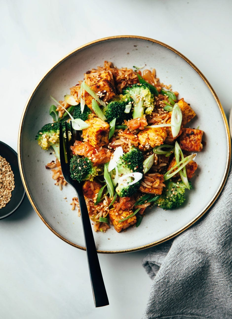Kimchi Fried Rice With Smoky Tempeh Amp Broccoli 187 The First