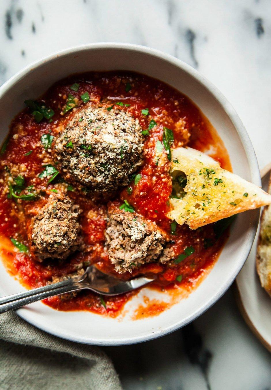Giant Vegan Mushroom Meatballs Amp Garlic Bread 187 The First Mess Plant Based Recipes