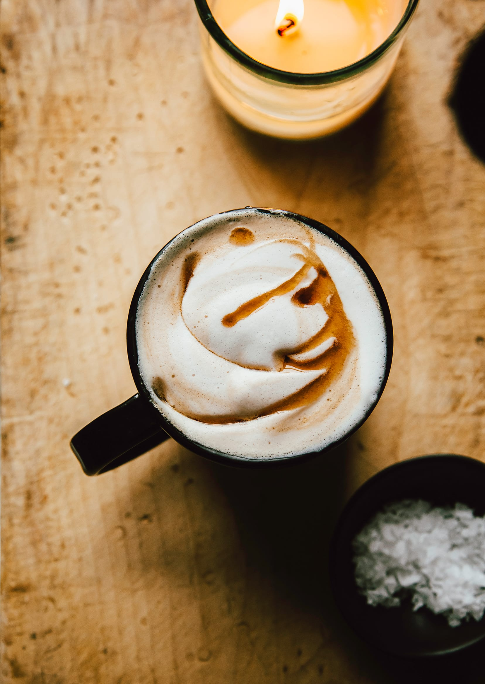 Maple Sea Salt Latte Recipe Dairy Free The First Mess