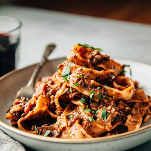 MUSHROOM & BEET BOLOGNESE - The First Mess