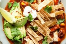 SMOKY SHIITAKE TORTILLA SOUP (vegan) - The First Mess