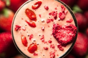 Spiced Strawberry & Goji Berry Smoothie - The First Mess