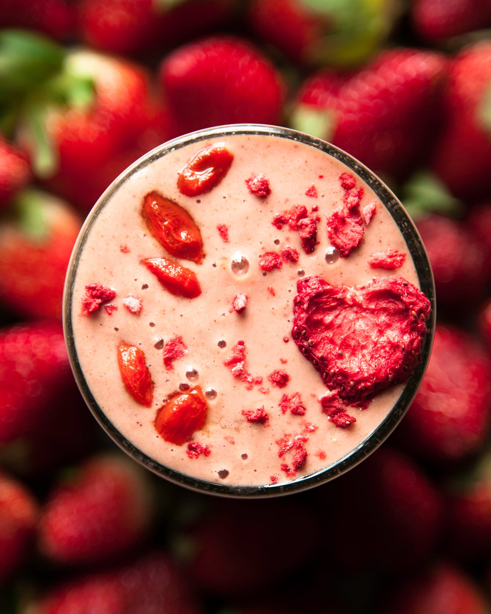 Spiced Strawberry Goji Berry Smoothie The First Mess Plant
