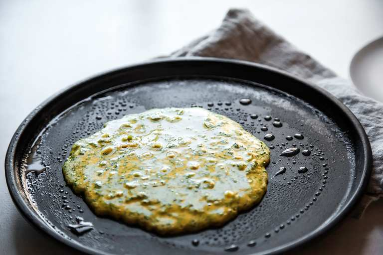 Herbed Chickpea Pancakes with Zesty Lemon Tahini - The First Mess