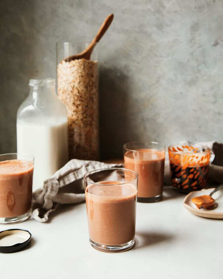 Thick Peanut Butter Mocha Smoothie (vegan) - The First Mess