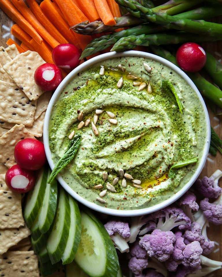 Creamy Kale Pesto White Bean Dip (vegan) - The First Mess