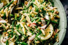 Lemony Spring Pasta Salad (vegan + nut-free) - The First Mess